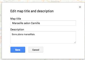 Titre et description carte