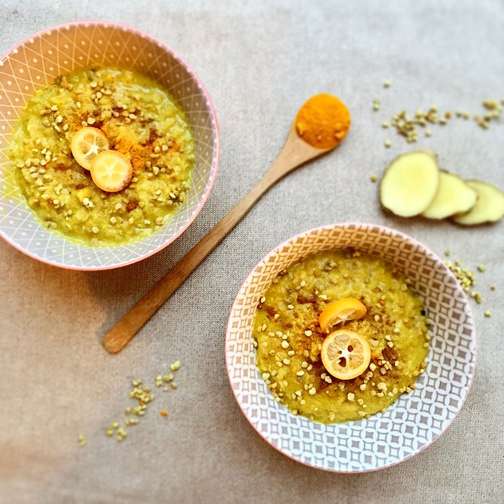 golden porridge recette C'est si Bon
