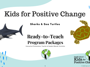 sharks and sea turtles digital learning package