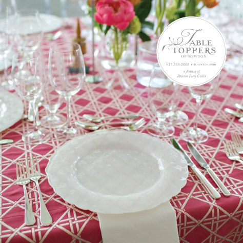Table Toppers - Bliss Ad