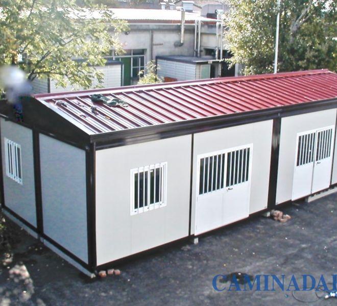 box prefabbricati con copertura tetto