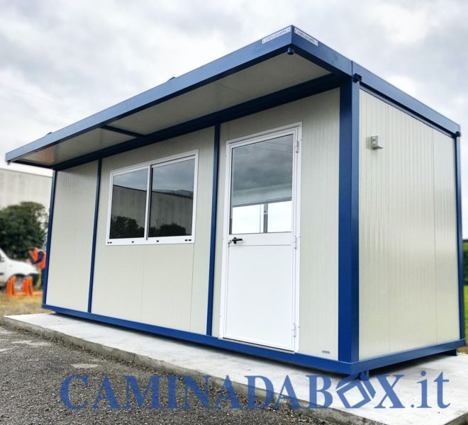 box ufficio prefabbricato con tettoia