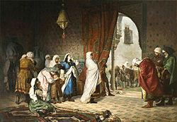 Salida de la familia de Boabdil de la Alhambra(1880)Manuel Gómez-Moreno