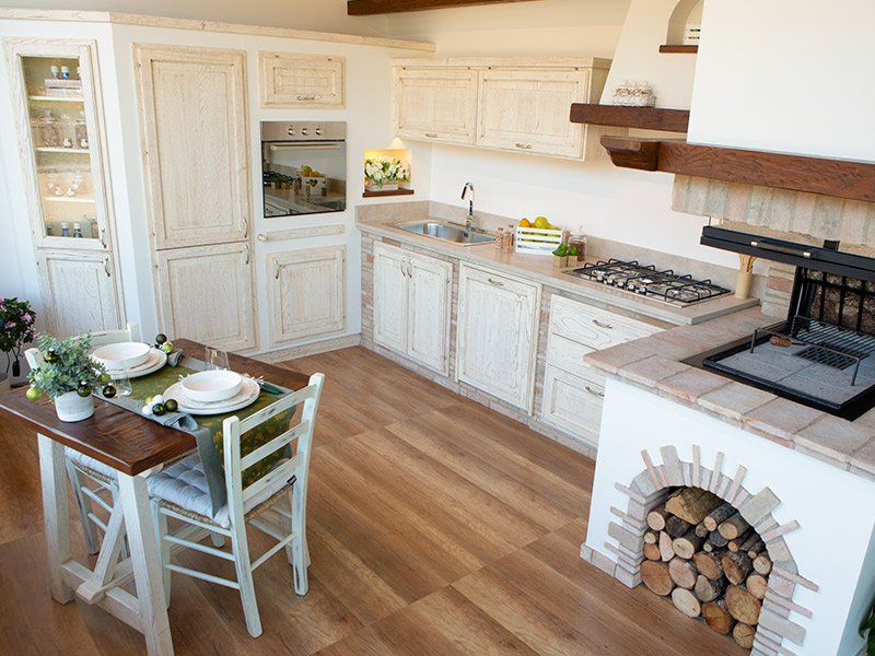 Cucine country chic, uno stile che profuma di campagna anche a casa. Mandorlo Cucina Rustica In Muratura Caminetti Carfagna