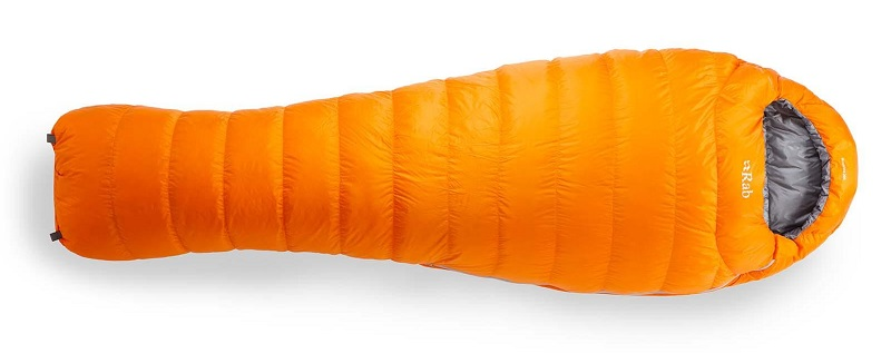 RAB Neutrino 200 Orange mummy bag