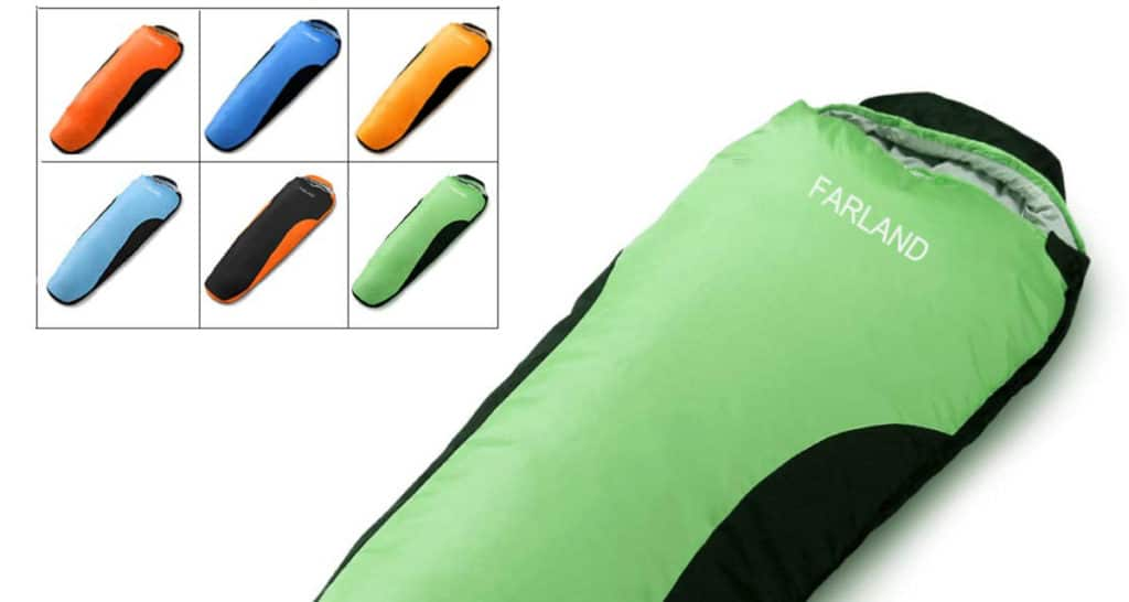 FARLAND Camping Sleeping Bag for Adults Youth Teens Kid with 0 Degree centigrade 20 Degree F Cold Weather Compression Sack Portable 4 Season