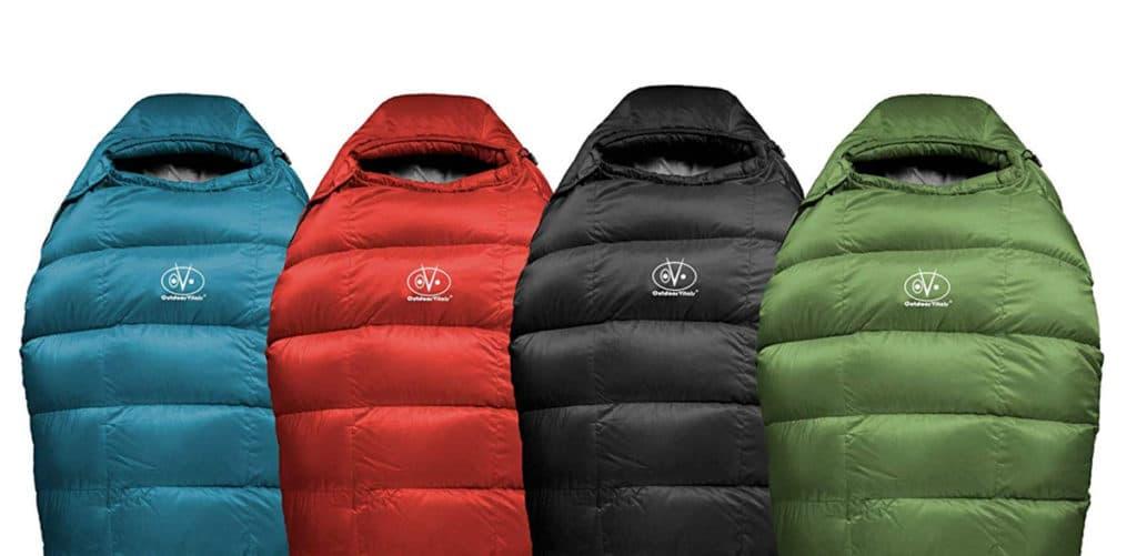 Outdoor Vitals Summit 0°F - 20°-30°F Down Sleeping Bag, 800 Fill Power, 4 Season, Mummy, Ultralight, Camping, Hiking