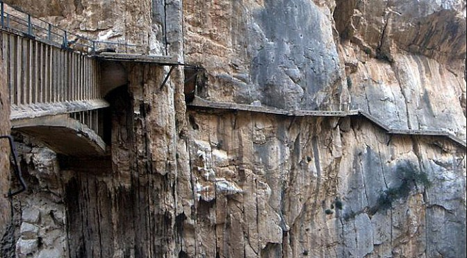 Camino del rey or kings path in el chorro