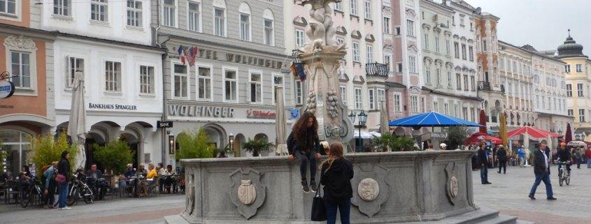 Hauptplatz en Linz