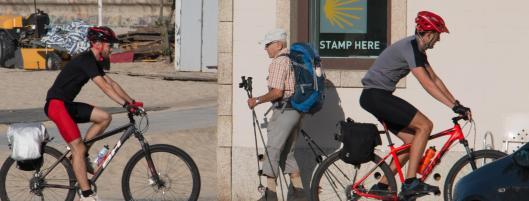 Camino Portugués por la Costa en Bici- Peregrinos en Matosinhos