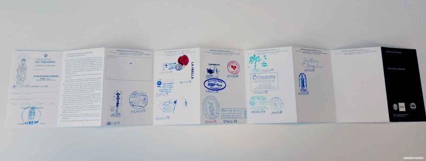La Credencial, el pasaporte del peregrino - Sellos de cada etapa