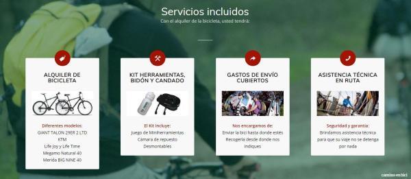 Que llevar en tu equipaje para el Camino de Santiago - Servicios incluidos con Camino en Bici