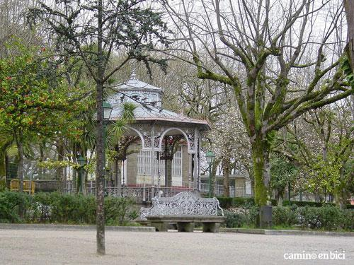 Palco de la música  en el Parque de la Alameda en Santiago de Compostela