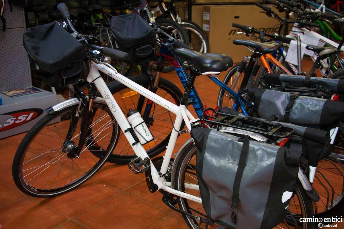 Bolsa delantera para bicicleta - Camino en Bici