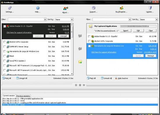 PickMeApp: respaldar programas instalados windows