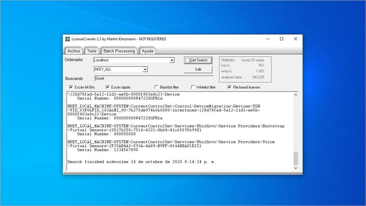 Cómo recuperar las licencias de los programas instalados en Windows 10