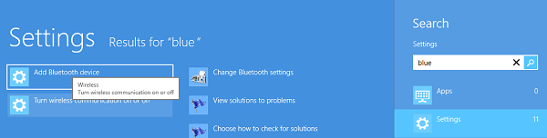 Activando Bluetooth en Windows 8