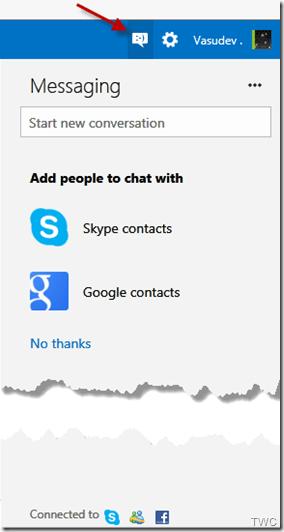 Como configurar Chat en Outlook.com para chatear con los contactos de Google