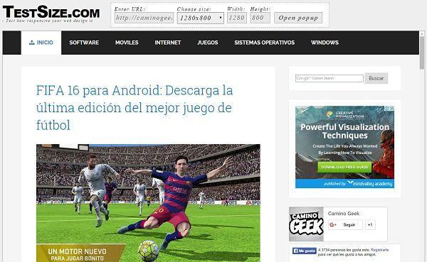 Herramienta en línea para probar sitio web en diferentes resoluciones de pantalla