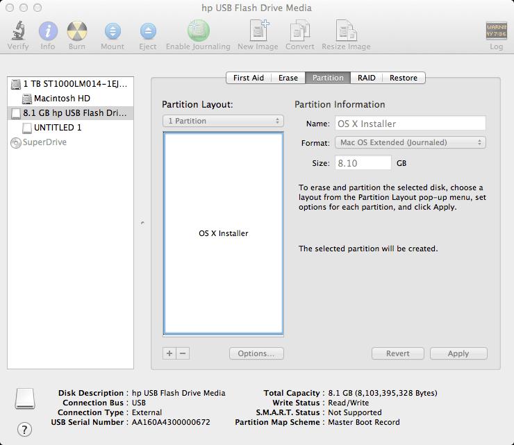 Como crear un USB de arranque para instalar OS X