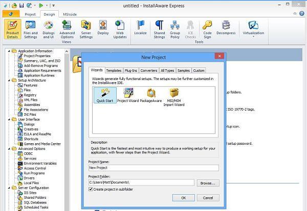 InstallAware 16, utilidades para crear instaladores o paquetes de instalación