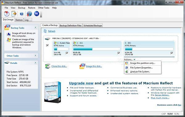 Crear imagen de disco o clonar disco duro con Macrium Reflect Free