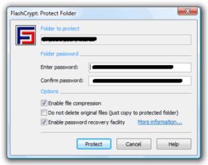 FlashCrypt, uno de los programas para encriptar tus archivos en Windows