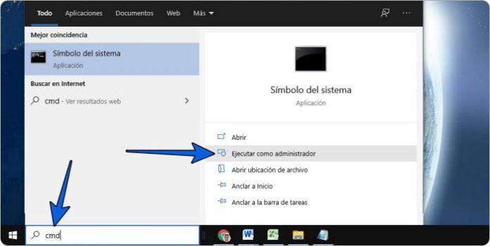 Restaurar la Papelera de reciclaje dañada con CMD en Windows 10