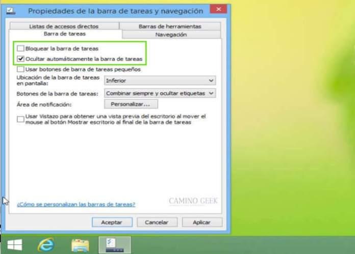 Cómo ocultar la barra de tareas en Windows 7 automáticamente