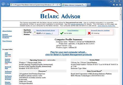 Belarc Advisor: herramienta especializada para ver las especificaciones de una PC a profundidad