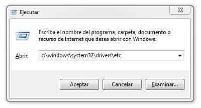 acceder al archivo hosts y bloquear paginas de internet