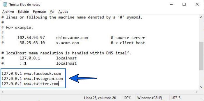 Cómo bloquear páginas de Internet desde archivo host en Windows