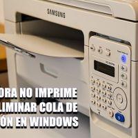Cómo eliminar la cola de impresión cuando la impresora no imprime en Windows