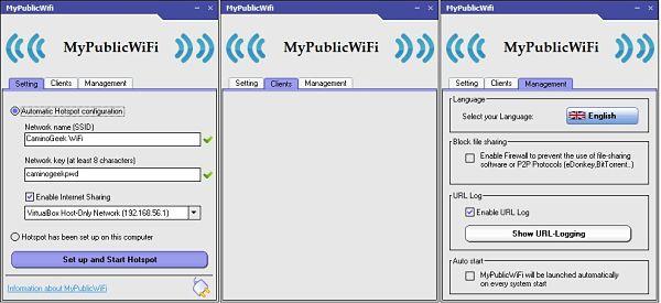 MyPublicWiFi es un router virtual para compartir internet desde una laptop o PC
