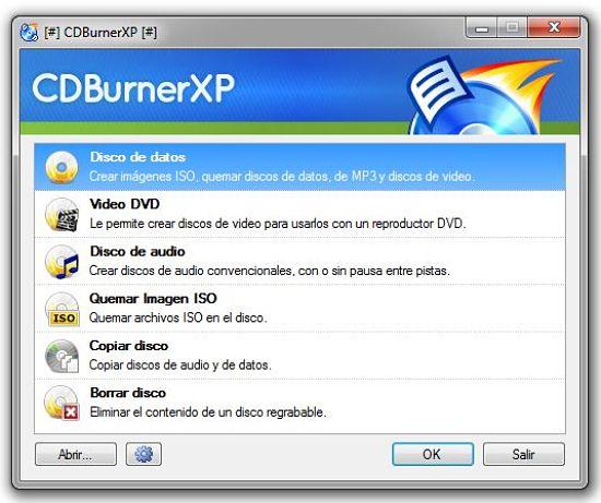 CDBurnerXP: uno de los mejores programas para quemar discos Blu-ray en Windows gratis