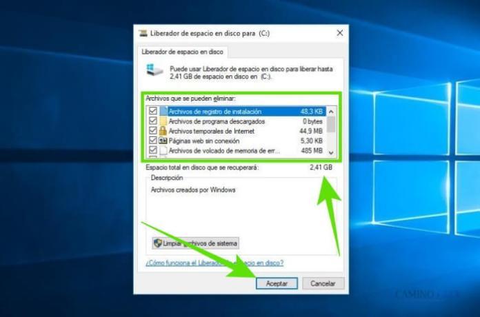 Cómo liberar espacio de almacenamiento al eliminar archivos basura en Windows 10