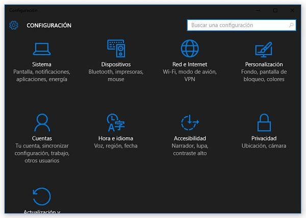 Habilitar tema oscuro de Windows 10
