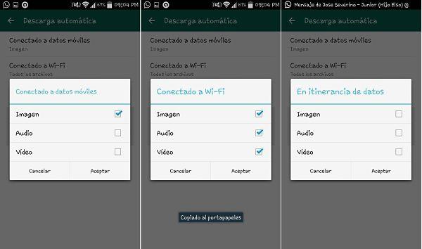 Tips y trucos de WhatsApp: descarga automática de imágenes y videos