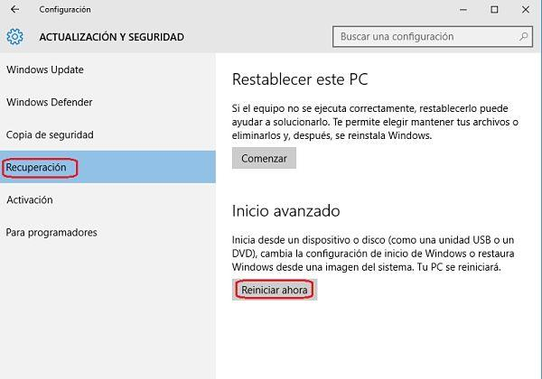 Iniciar Windows 10 en modo seguro paso a paso