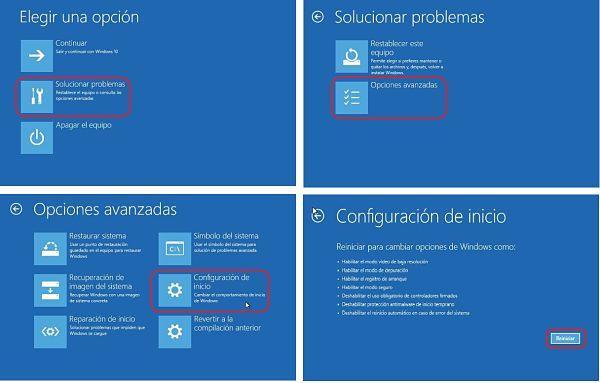 Pasos para arrancar Windows 10 en modo seguro