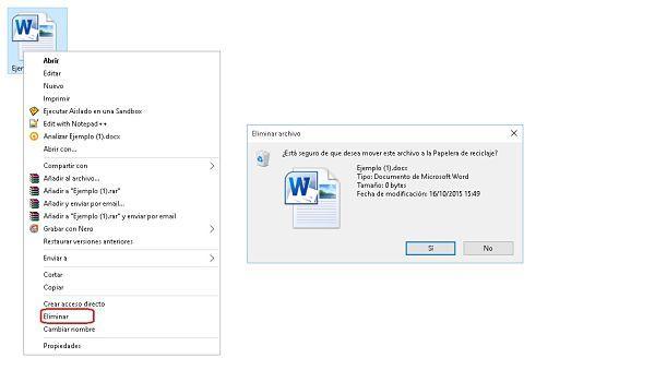 Cómo eliminar un archivo por MC.
