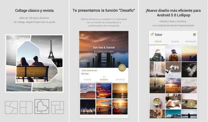 Hacer collage de fotos en Android con Fotor