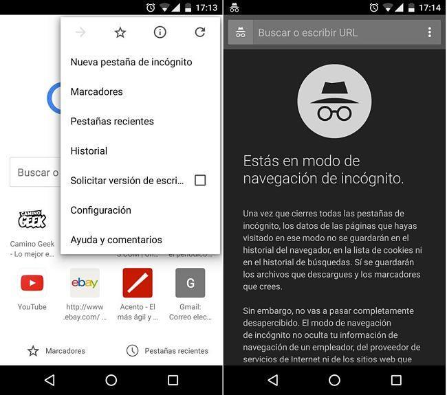 Navegar Inkognito Chrome Android Herunterladen