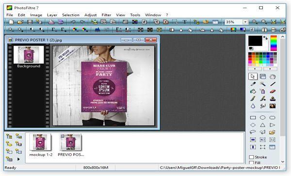 PhotoFiltre: otra buena alternativa para abrir archivos PSD sin Photoshop