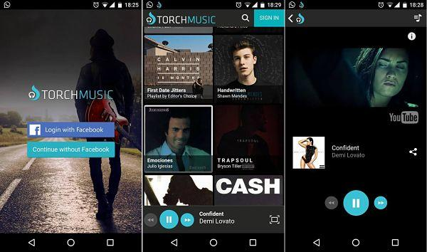 Torch Music: Una buena app para reproducir videos de YouTube en segundo plano