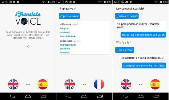 iTranslate Voice: : Una de las mejores aplicaciones traductores de idiomas en Android e iOS
