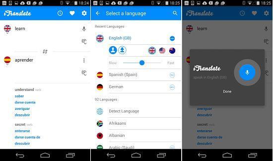 iTranslate: Una de las mejores apps traductores de idiomas en el móvil