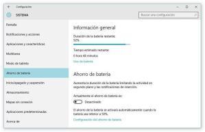 Cómo revisar cuales aplicaciones consumen más batería en Windows 10