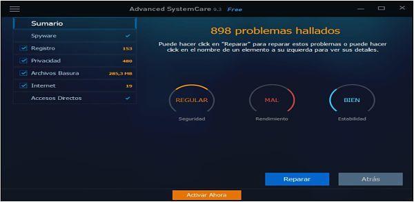 Advanced SystemCare Free: Uno de los mejores limpiadores de registro para Windows