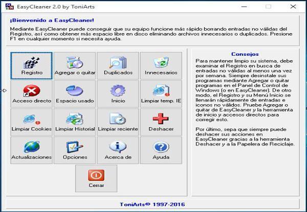 EasyCleaner: Uno de los mejores limpiadores de registro para Windows